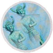 Cyprus Gods Of Trade. Round Beach Towel by Augusta Stylianou