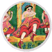 Czardas Dancers, 1908-20 Round Beach Towel