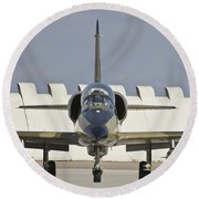 Czech Air Force L-39za Albatros Round Beach Towel