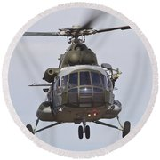 Czech Air Force Mi-171 Hip Helicopter Round Beach Towel