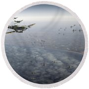 D-day Operation Mallard Round Beach Towel