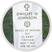 D. H. Johnson - Medal Of Honor Round Beach Towel