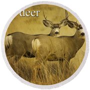 D Is For Deer Round Beach Towel