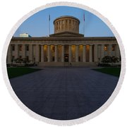 D13l83 Ohio Statehouse Photo Round Beach Towel