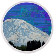 Da Mountain Cubed 1 Round Beach Towel