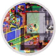 Daas 18 O Round Beach Towel