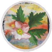 Texas Wildflowers Tp X Round Beach Towel