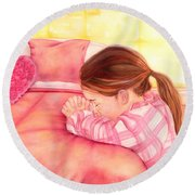 Daddy's Girl Round Beach Towel