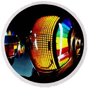Daft Punk  Round Beach Towel