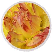 Dahlia - 812 Round Beach Towel