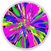 Dahlia Flower Abstract #1 Round Beach Towel