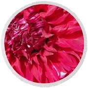 Dahlia Named Mingus Erik Round Beach Towel