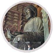 Daibutsu Buddha Of Todai-ji Temple Round Beach Towel