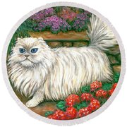 Dainty The Cat Round Beach Towel