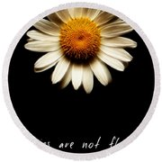 Daisies Are Not Flowers Fractal Version Round Beach Towel