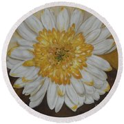 Daisy-2 Round Beach Towel