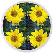 Daisy 8 Round Beach Towel