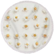 Daisy Collection Round Beach Towel