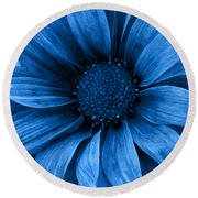 Daisy Daisy Pure Blue Round Beach Towel