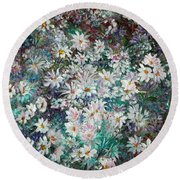 Daisy Dreamz Remix Round Beach Towel