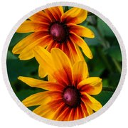 Daisy Duo Round Beach Towel