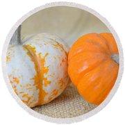 Daisy Gourd And Pumpkin Round Beach Towel