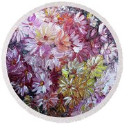 Daisy Mix   Sold Round Beach Towel