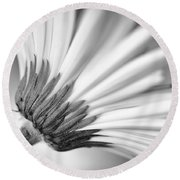 Daisy Noir Round Beach Towel by Christi Kraft