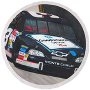 Dale Earnhardt At Bristol Round Beach Towel