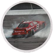 Dale Earnhardt Junior Victory Burnout Round Beach Towel