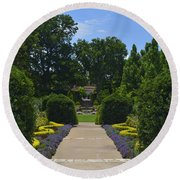 Dallas Arboretum Round Beach Towel
