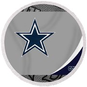 Dallas Cowboys Round Beach Towel