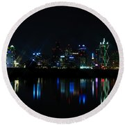 Dallas Reflections Round Beach Towel