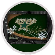 Dallas Stars Christmas Round Beach Towel