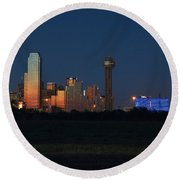 Dallas Sunset Round Beach Towel