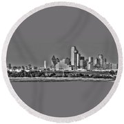 Dallas The New Gotham City  Round Beach Towel