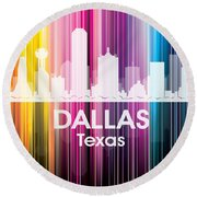 Dallas Tx 2 Round Beach Towel