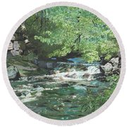 Dam Site Round Beach Towel