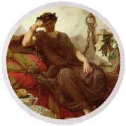 Damocles Round Beach Towel by Thomas Couture