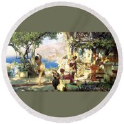 Dance Amongst The Daggers Round Beach Towel
