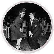Dance: Lambeth Walk, C1940 Round Beach Towel
