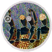 Dance Party Round Beach Towel