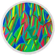 Dance Of Colors Round Beach Towel