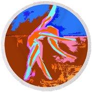 Dance Of Joy 2 Round Beach Towel by Patrick J Murphy
