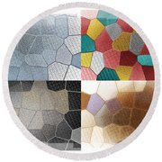 Dance Of Light Round Beach Towel