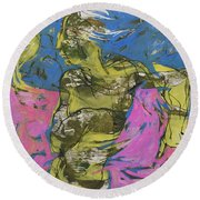 Dance Solo Round Beach Towel