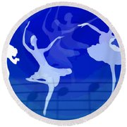 Dance The Blues Away Round Beach Towel