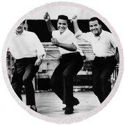 Dance The Twist, C1962 Round Beach Towel
