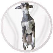 Dancing Dog Round Beach Towel