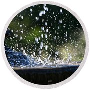 Dancing Droplets Round Beach Towel